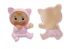 Bebek Kedi Kostümlü Pembe Renkli