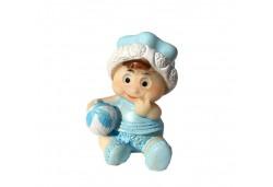 Bebek Şapkalı Ve Toplu Mavi