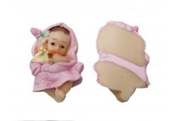 Bebek Bornozlu Pembe Renkli