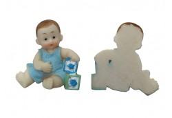 Bebek Başında Fiyonk Mavi 1 Adet
