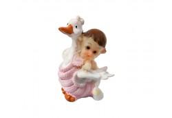 Bebek Leyleğin Üstünde Uçuyor Pembe