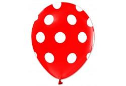 Balon Beyaz Puantiyeli Kırmızı 100'lü