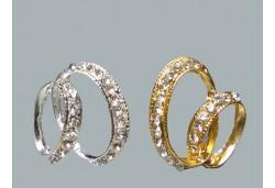 Alyans Taşlı Metal Altın 10'lu