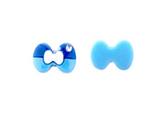 Fiyonk Akrilik Sticker Plastik Mavi 100'lü