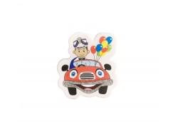 Sticker Sünnet Çocuğu Arabalı Küçük 50'li