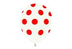 Balon Kırmızı Puantiyeli 100'lü