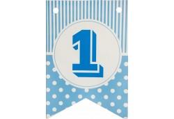 Flama Bayrak 1 Rakamı Mavi 10'lu