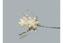 İncili Taşlı Yapraklı Çiçek 10'lu
