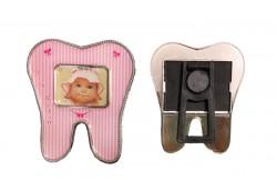 Çerçeve Diş Modeli Magnetli Pembe Renkli