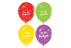 Balon İyiki Doğdun Baskılı Pastel 100'lü